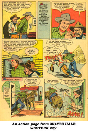 An action page from MONTE HALE WESTERN #29.
