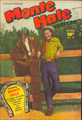 Cover to MONTE HALE WESTERN #29.