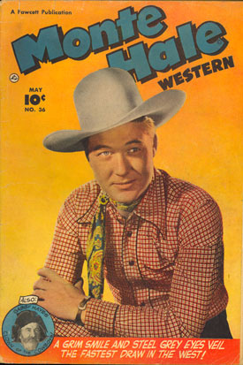 Cover to MONTE HALE WESTERN #36.