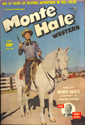 Cover to MONTE HALE WESTERN #54.