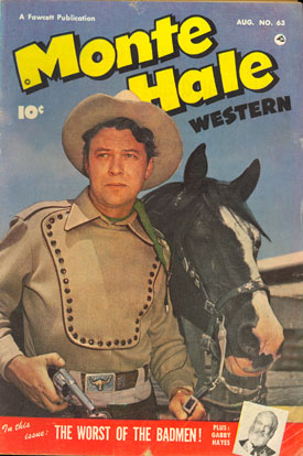 Cover to MONTE HALE WESTERN #63.