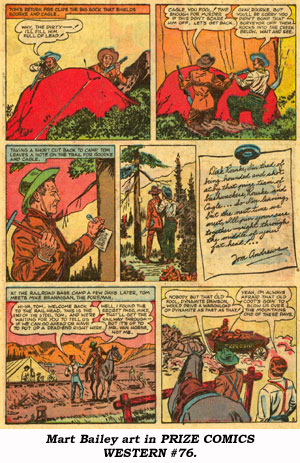 Mart Bailey art in PRIZE COMICS WESTERN #76.