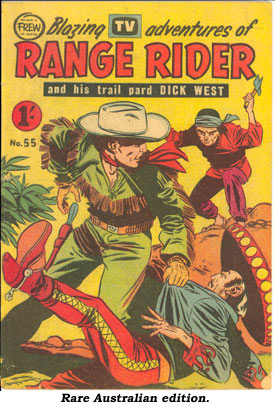 Rare Australian edition of RANG RIDER comic book.