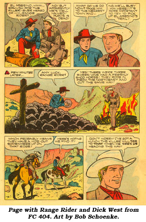 Page with Range Rider and Dick West from FC 404.