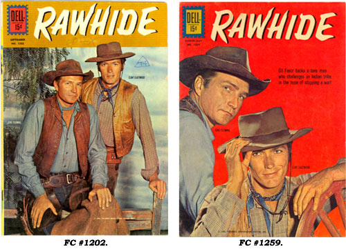 Covers to RAWHIDE FC #1202 and FC #1259.