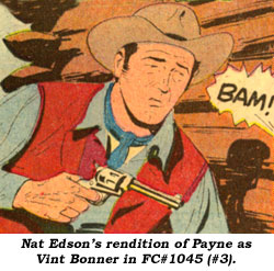 Nat Edson's rendition of Payne as Vint Bonner in FC#1045 (#3).