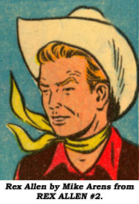 Rex Allen by Mike Arens from REX ALLEN #2.
