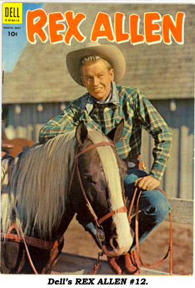 Dell's REX ALLEN #12 cover.