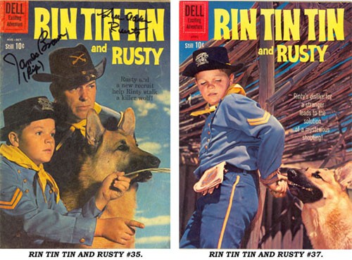 Covers to RIN TIN TIN AND RUSTY #35 and #37.
