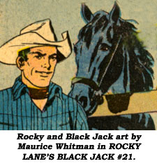 Rocky and Black Jack art by Maurice Whitman in ROCK?Y LANE'S BLACK JACK #21.
