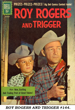 Cover to ROY ROGERS AND TRIGGER #144.