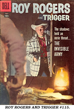 Cover to ROY ROGERS AND TRIGGER #115.