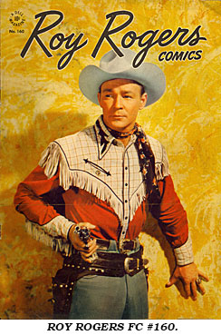 Cover to ROY ROGERS FC #160.