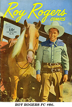 Cover to ROY ROGERS FC #86.
