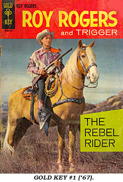 Cover to ROY ROGERS AND TRIGGER Gold Key #1 (1967).