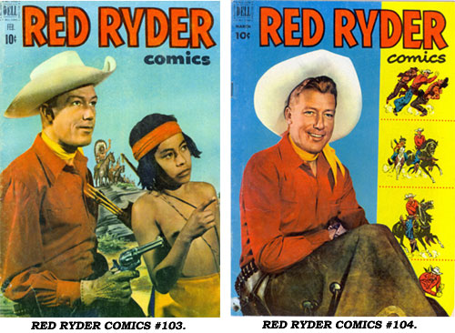 Covers to RED RYDER COMICS #103 and #104.