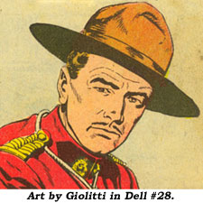 Sgt. Preston art by Giolitti.