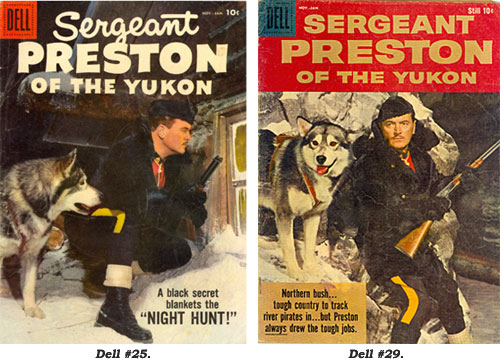 Covers to Sergeant Preston of the Yukon #25 and #29.
