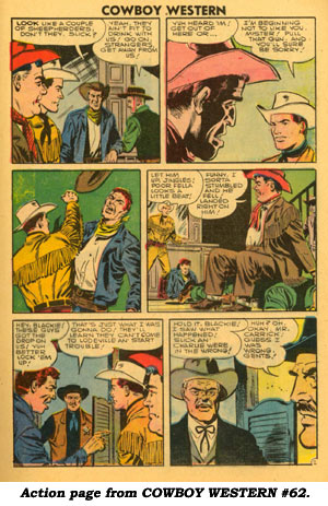 Action page from COWBOY WESTERN #62.