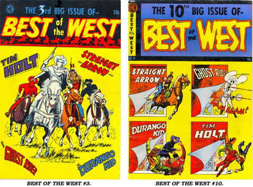 Covers to BEST OF THE WEST #3 and #10.