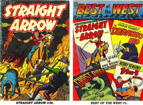 Covers to STRAIGHT ARROW #36 and BEST OF THE WEST #1.