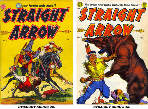 Covers to STRAIGHT ARROW #2 and #3.