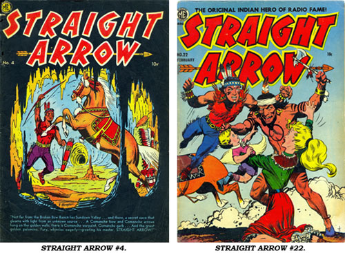 Covers to STRAIGHT ARROW #4 and #22.