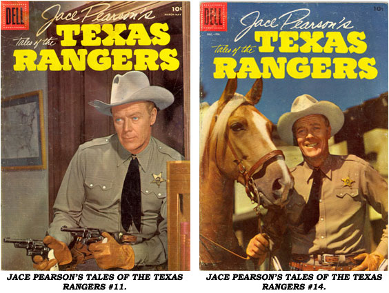 Covers from JACE PEARSON'S TALES OF THE TEXAS RANGERS #11 AND #14.