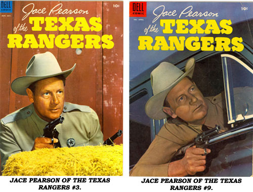 Covers from JACE PEARSON'S TALES OF THE TEXAS RANGERS #3 AND #9.