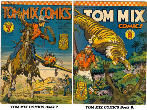 Covers to TOM MIX COMICS Book 7 and Book 8.