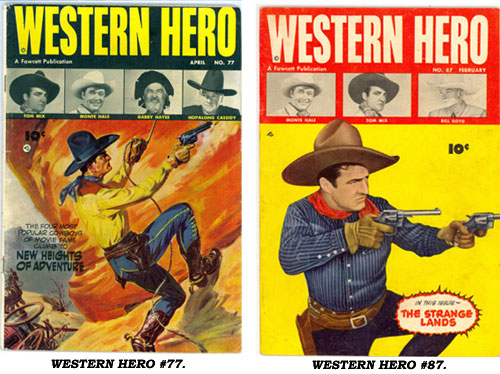 Covers to WESTERN HERO #77 and #87.