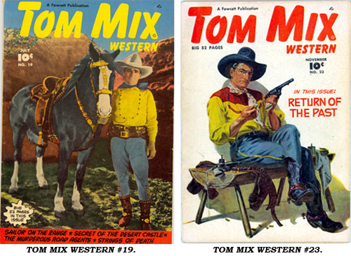 Covers to TOM MIX WESTERN #19 and #23.