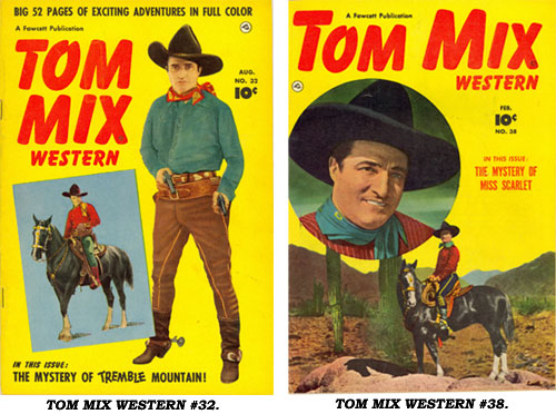 Covers to TOM MIX WESTERN #32 and #38.