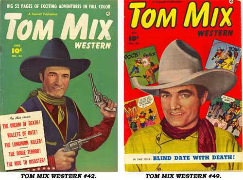 Covers to TOM MIX WESTERN #42 and #49.