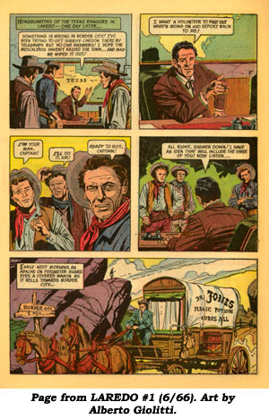 Page from LAREDO #1 (6/66). Art by Alberto Giolitti.
