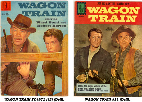 Covers to WAGON TRAIN FC#971 (#2) and #11 from Dell.