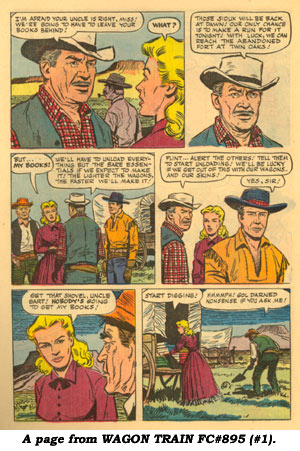 A page from WAGON TRAIN FC#895 (#1).