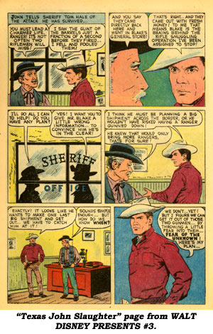 """Texas John Slaughter"" page from WALT DISNEY PRESENTS #3."