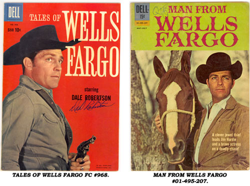 Covers to TALES OF WELLS FARGO FC#968 and MAN FROM WELLS FARGO #01-495-207.