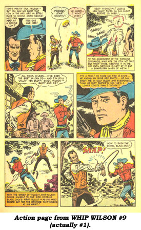 Action page from WHIP WILSON #9 (actually #1).