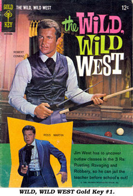 Cover to WILD, WILD WEST Gold Key #1.