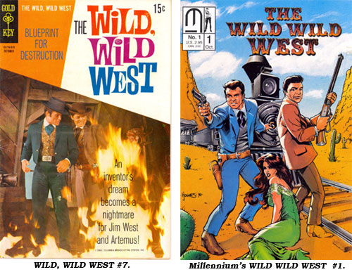Covers to WILD, WILD WEST #7 and Millennium's WILD WILD WEST #1.
