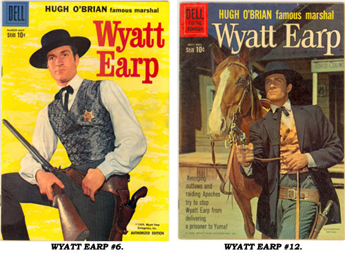 Covers to Dell WYATT EARP #6 and #12.