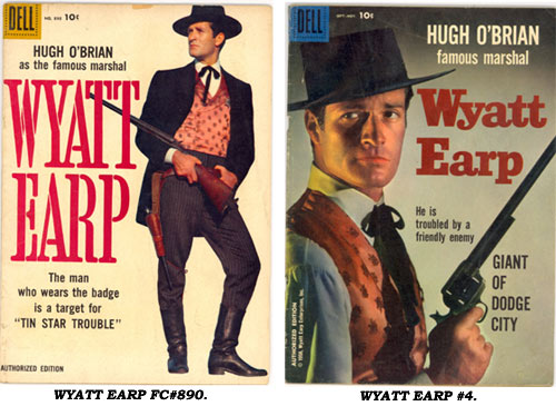 Covers to Dell WYATT EARP FC#890 and #4.