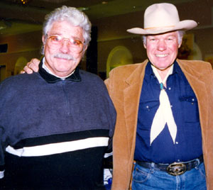 Dale Robertson and Kelo Henderson at a Hollywood Collector's Show in January 1997.