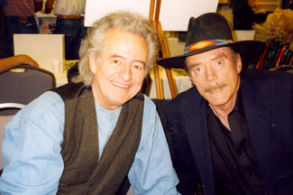 "Henry Darrow (Manolito) and Ted Markland (Reno) from ""The High Chaparral"" at a Hollywood Collector's Show."
