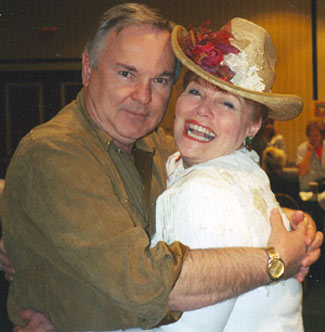 WC's Boyd Magers and actress Jo Morrow had a bundle of fun at the Charlotte Western Film Fair in July, 2005.