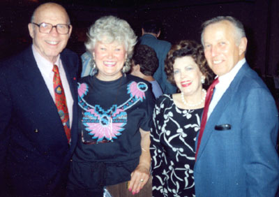 Tom Turnage, formerly of the Washington D.C. Veteran's Administration, Barbara Merlin, Jane Adams Turnage and Jan Merlin at the Memphis Film Festival in 1992.