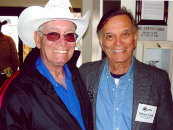 Two Little Beavers. Don K. Reynolds and Tommy Cook at the Roy Rogers Festival in Victorville, CA, in February 2006.