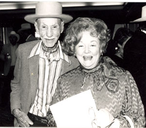 Hank Worden and Dorothy Fay Ritter at an early film festival.